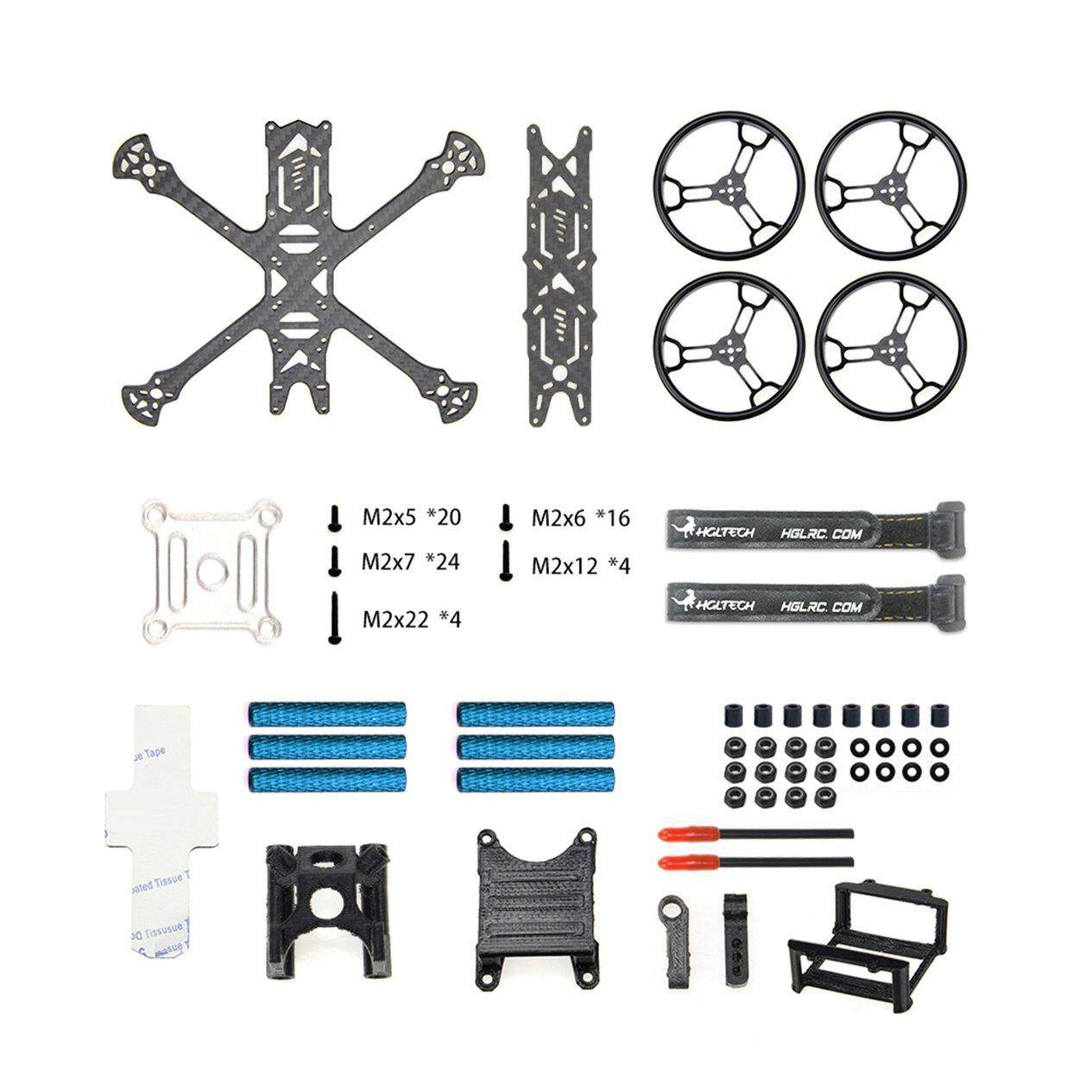 WOND HGLRC Sector150 Freestyle Frame Kit 3K Carbon Fiber FPV Frame Racing Aircraft Kit
