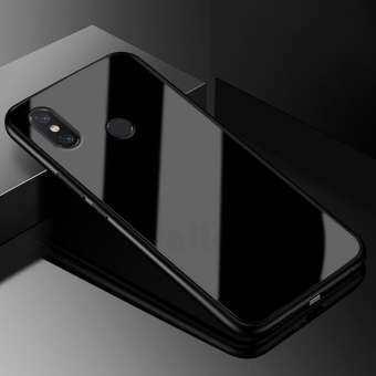 UPaitou คลุมทั้งหมดกระจกเทมเปอร์เคสสำหรับ Xiaomi Mi MAX 3/MAX 3 Pro กรณีเคส TPU 9 H กระจกนิรภัยด้านหลังฝาครอบโทรศัพท์กรณี-