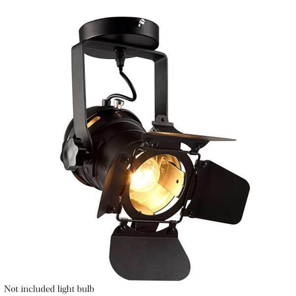 Led 4 Blade Black Decor Industrial Style E27 Adjustable Iron Vintage Wall Lamp