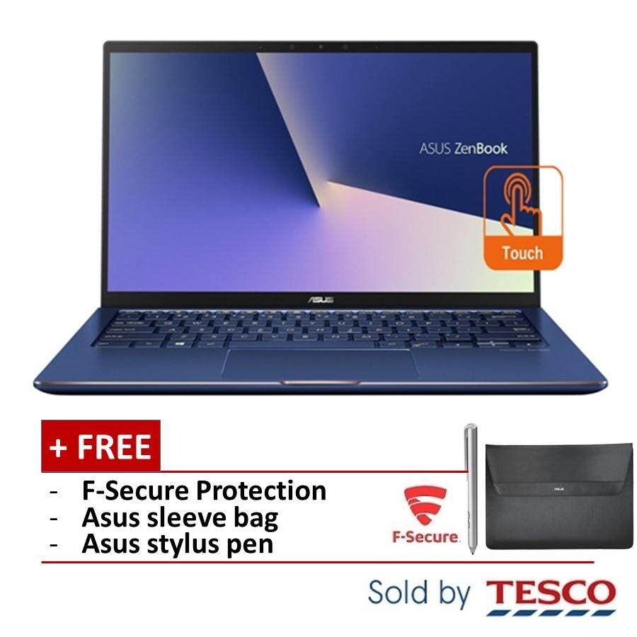Asus Zenbook Flip 13 UX362F-AEL295T Laptop (i7-8565U/ 8GB/ 512GB) + FSecure (Royal Blue) Malaysia