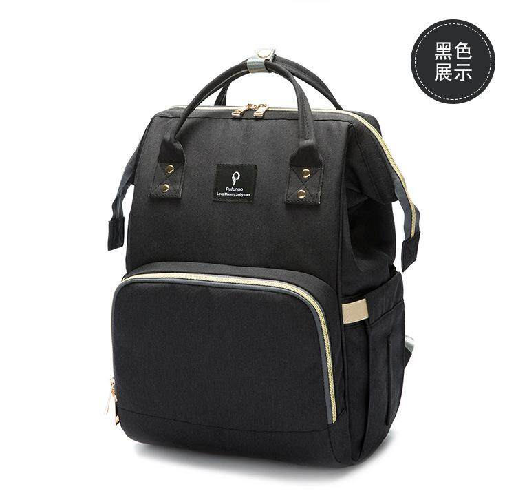 5baf530a153382 New backpack multi-function maternal and child package large-capacity Mummy  bag women's casual