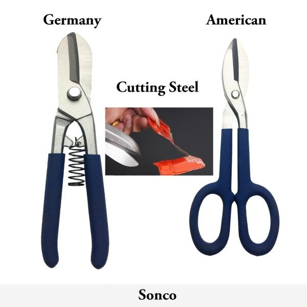 ✗∋  Professional Germany American Type Tinmans Snips scissors shear for Cutting Iron steel metal Sheet