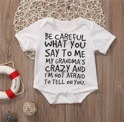 3c2e859ed8b Kids Newborn Infant Baby Boys Girls Romper Short Sleeve Letter Print  Jumpsuit Cotton Clothes suit Outfits