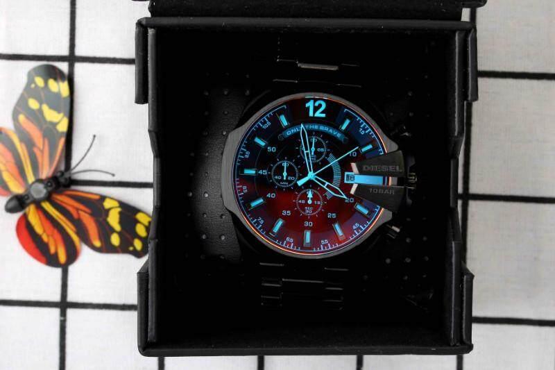 การใช้งาน  นครปฐม Genuine Products Waterproof Diesel_Military Series. Three-Eye Timing Fashion casual watchMineral Toughened Glass Mirror .Japanese Quartz Core. Resin Strap .