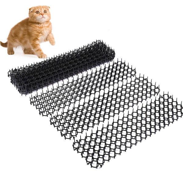 10pcs/set Prickle Scat Mat Outdoor Indoor Pest Control Spikes Straps Cat Dog Deterrent Devices Safe Isolation Square Anti Digging Sting Garden