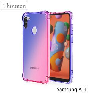Thinmon Dành Cho Samsung A11 Ốp Lưng Màu Chuyển Sắc Ốp Điện Thoại Silicon TPU Mềm Túi Khí Nắp Lưng Ốp Chống Sốc thumbnail