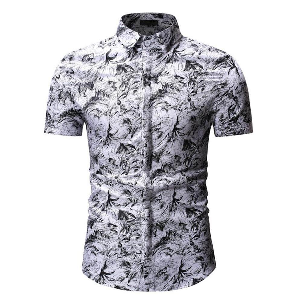 a0648e8d2db4 Men Beach Shirt Hawaii Summer Short Sleeved Fashionable Printed Casual Shirt
