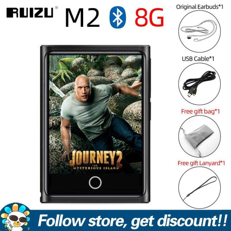 RUIZU M2 Bluetooth MP3 Player 8GB 16GB Portable Audio Walkman Music Player Full Touch Screen MP4 MP3 Lossless Music Player With FM Radio Recording E-book Video Player Support TF Card to 128GB