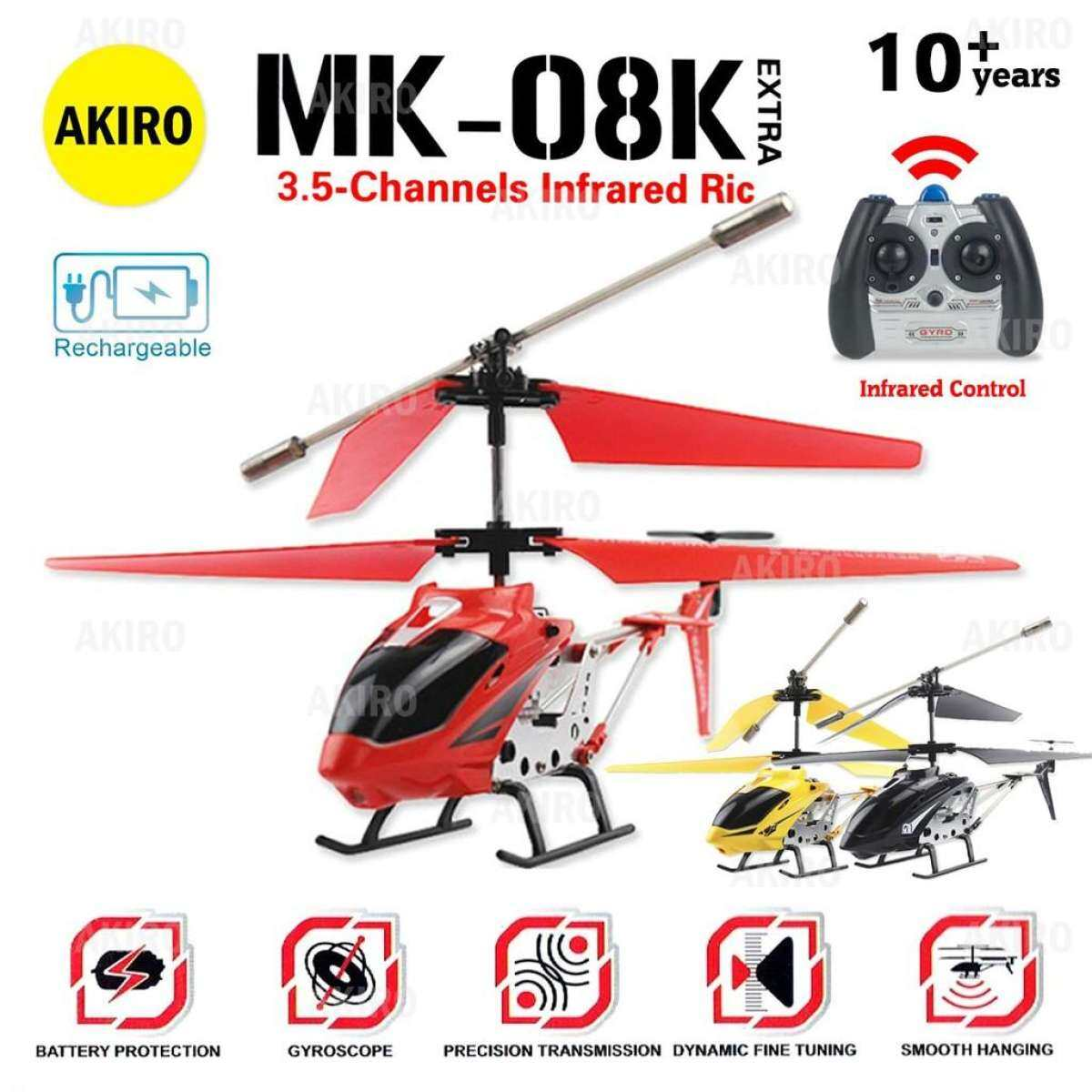 Ready Stock Alloy Mini Rc Helicopter Crash Resistant With Gyroscope 3 5 Channel Mk 08k Ww Lazada