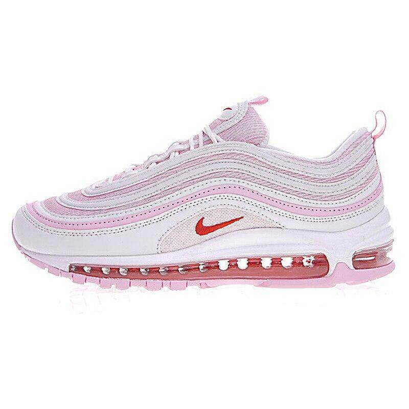การใช้งาน  ฉะเชิงเทรา Original Authentic Nike_AIR_Max_97 OG Women s Running Shoes Sports Outdoor Sneakers Shock Absorbing Height Increasing 313054
