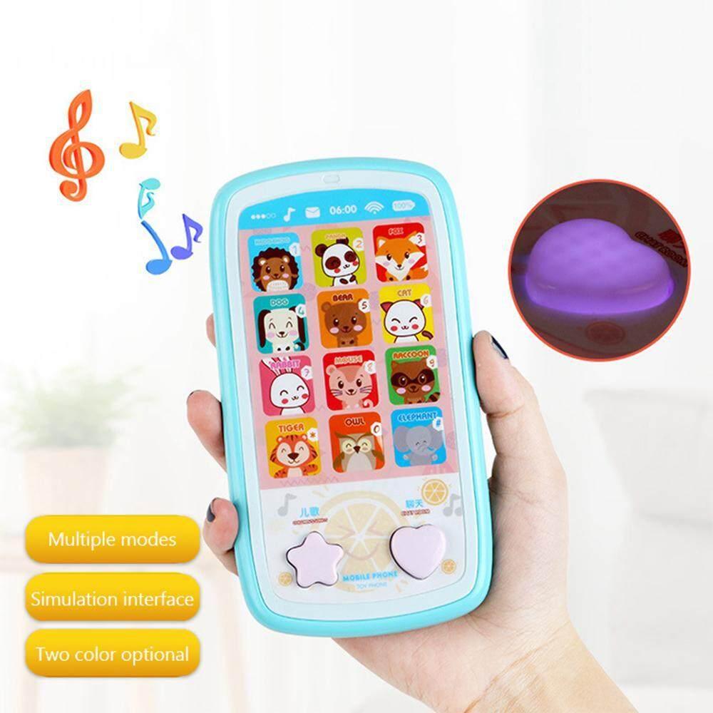 Outflety เด็กหน้าจอสัมผัสของเล่นโทรศัพท์มือถือ Multi - ฟังก์ชั่นการศึกษาของเล่นสำหรับการเรียนรู้กระพริบไฟ Led และเสียงเพลง Perfect Interactive ของขวัญเด็ก (สีสุ่ม) By Outflety.