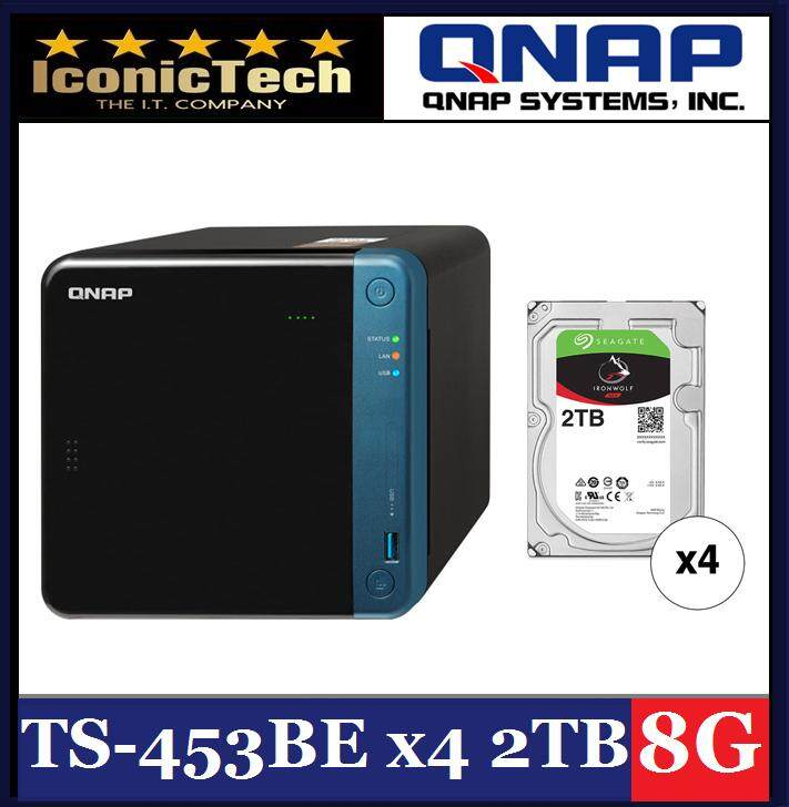 QNAP NAS Bundle Special (TS-453Be-8G + 4x 2TB HD) - 100% Genuine Brand New  Original