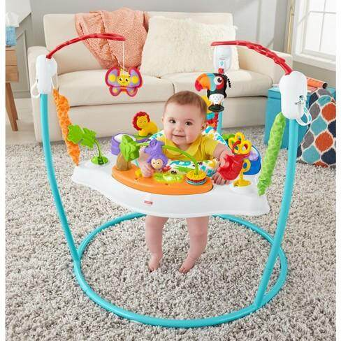SPECIAL PROMOTION BLUE CARE BOUNCER, 360 Degree Music Lights & Sounds JUMPEROO-Best Value for your Fun Baby FOR 4 TO 36 MOTH BABIES