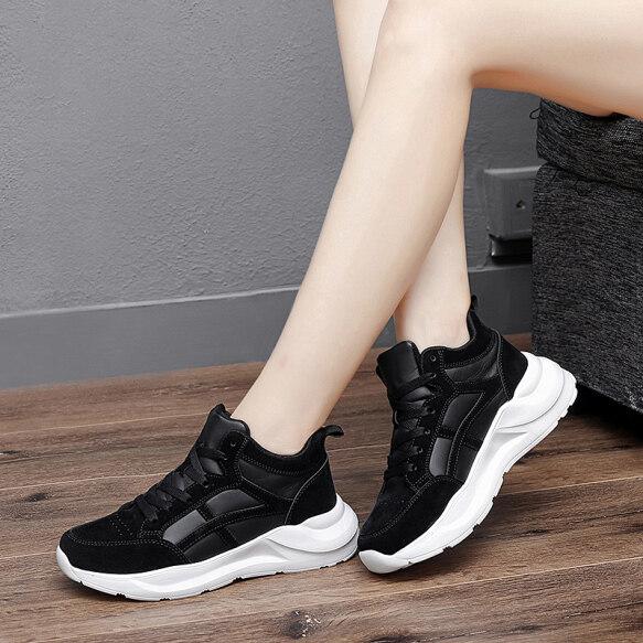 Giày Da Mùa Thu Và Mùa Đông Đế Bằng Cho Mẹ, Giày Tập Thể Thao Thường Ngày Đế Bằng Forrest Gump Chống Thấm Nước Cao Giày Nữ Lót Nhung Chống Trượt Cho Giày Nữ Bầu giá rẻ