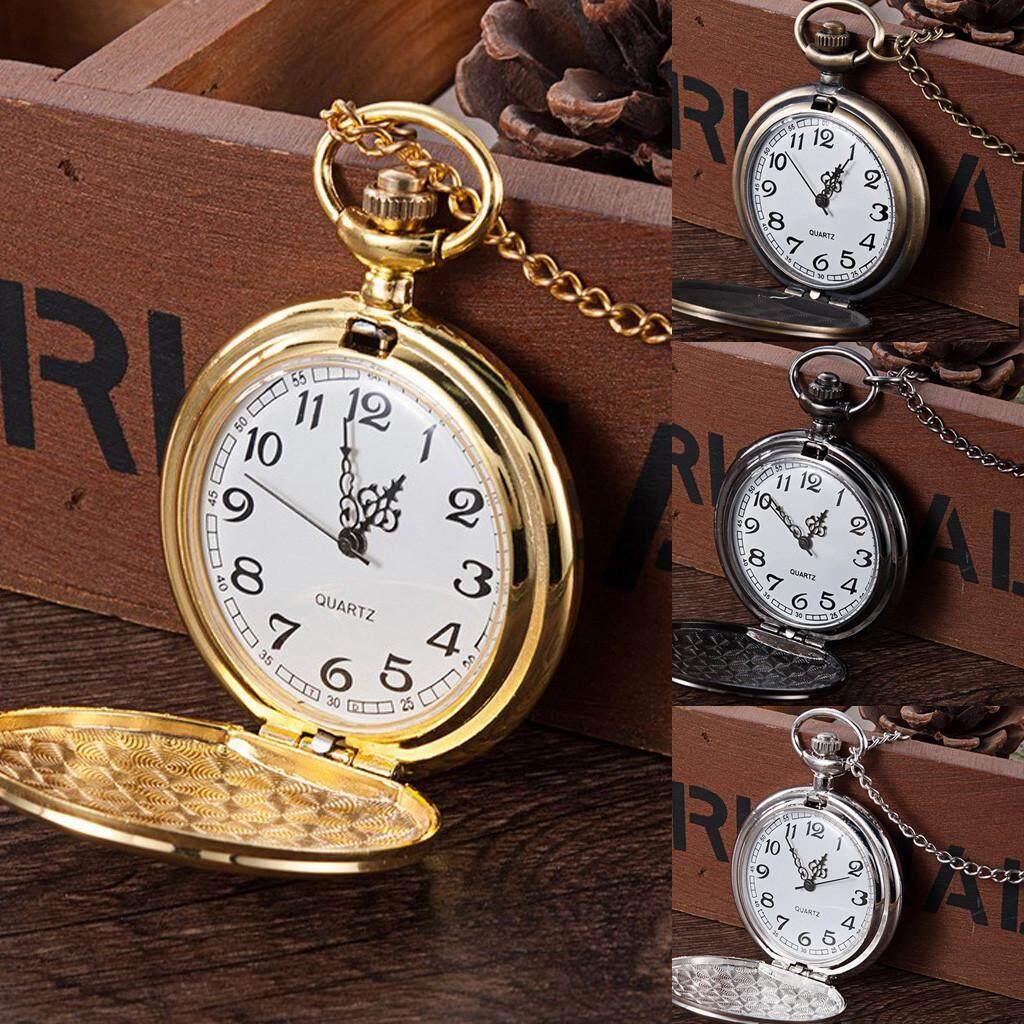 4.6cm Personality Fashion Retro Large Pocket Watch Engraved Quartz Pocket Watch Malaysia