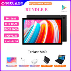【Newest】Teclast M40 10.1 inch Tablet Android 10 6GB RAM 128GB ROM 1920×1200 UNISOC T618 Octa Core Dual Wifi Type-C 4G Phone Call Bluetooth 5.0 Tablets PC