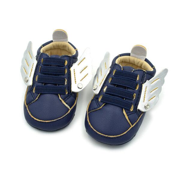 PatPat Cánh Độc Đáo Trang Trí Cho Trẻ Sơ Sinh Trẻ Sơ Sinh Giày Chống Trượt Thông Thường Giày Đế Mềm Cho Bé Trai-D giá rẻ