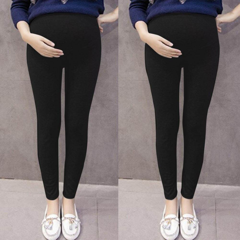 08dfe8191fedf Ahlisenshop Pregnant Women's Pants Solid Color And Thin Maternity Pregnancy  Trousers