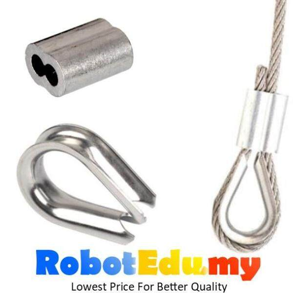 Stainless Steel Wire Rope Thimble Eye / Aluminium Cable Ferrule Stop Clip Crimps