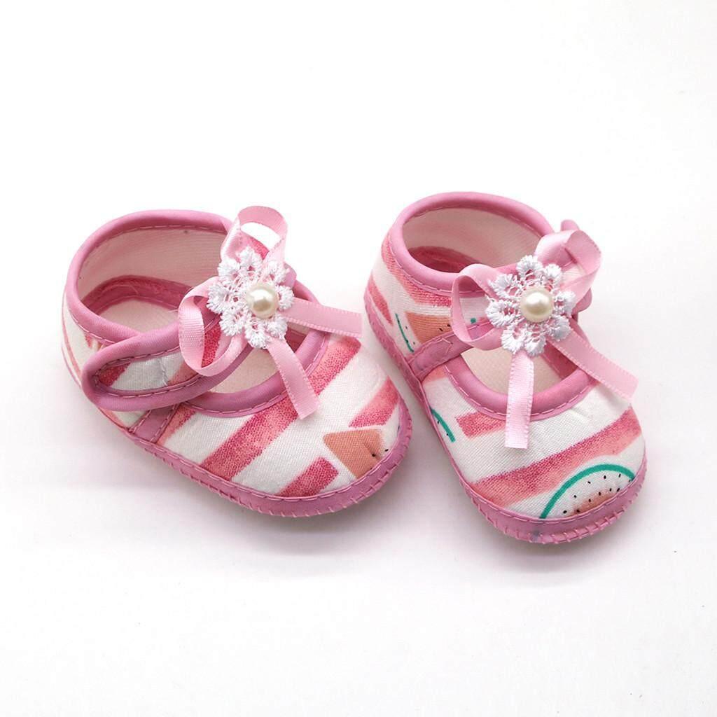 fc7afc04e1108 New darling Newborn Baby Girls Watermelon Printing Prewalker Soft Sole  Sandals Single Shoes