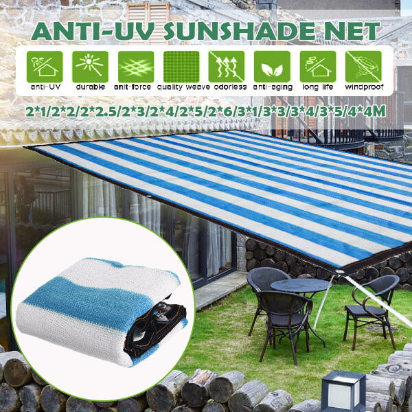 Anti-UV Sunshade Net Outdoor Garden Sunscreen Sunblock Shade Cloth Net Plant Greenhouse Cover Car Cover - 2x1