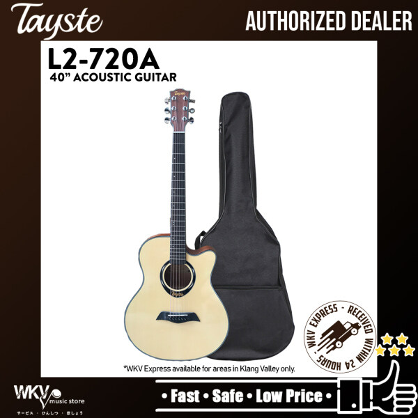 Tayste L2-720A 40 Inch High Quality Spruce Top Acoustic Guitar Malaysia