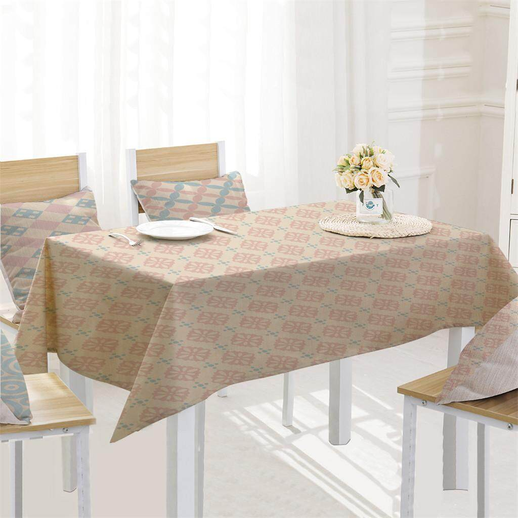 Malonestore Geometry Table Cloth Linen Tablecloth For Kitchen Decorative Dining Table Cover