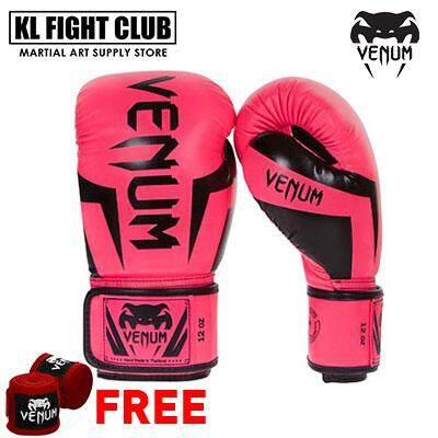 VENUM Challenger 2 0 Professional Boxing + Muay Thai Training Punching Bag  Gloves - (M-10oz) (L-12oz) (XL-14oz)