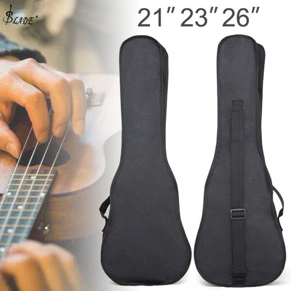SLADE 21 / 23 / 26 Inch Ukulele Bag Black Portable Soft Case Monolayer Bag Single Shoulder Backpack Padded Malaysia