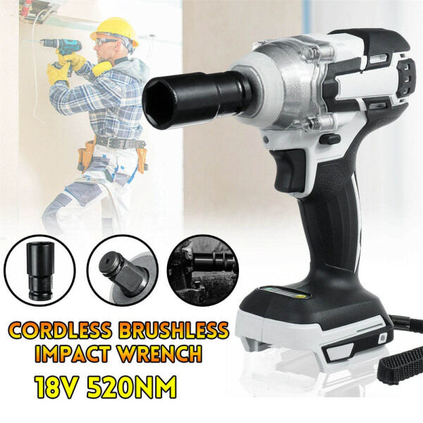 【Free Shipping】Replacement Wrench Drill Body Only For 18V Makita DTW285Z 520NM Brushless Cordless Impact Wrench + Sleeve