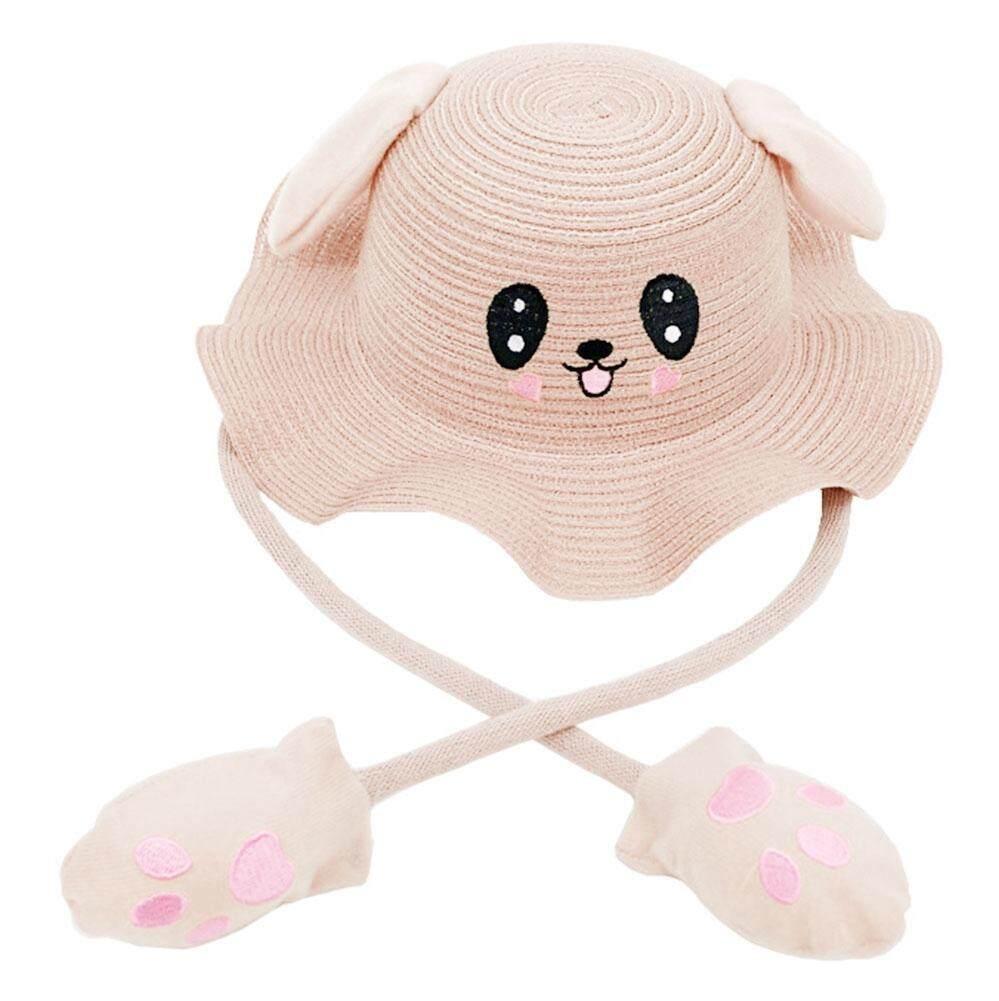 Giá bán Hoạt Hình dễ thương Trẻ Em Mùa Hè Trẻ Em Rộng Vành Ống Hút Hat với Thỏ Di Chuyển Tai
