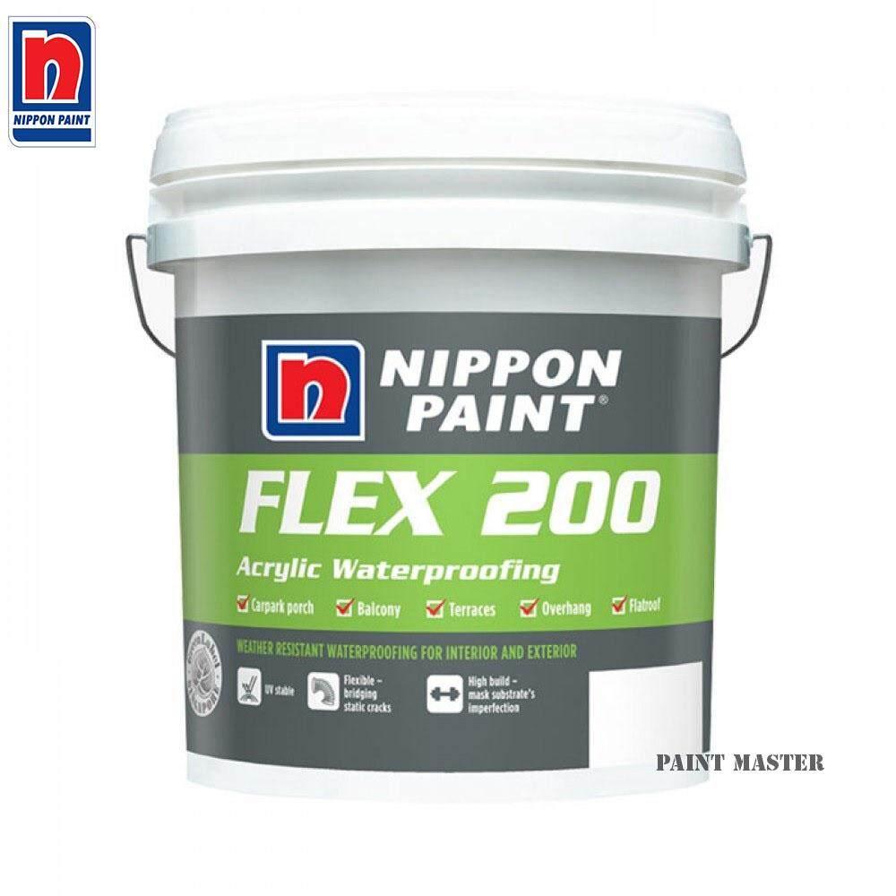 Nippon Paint Flex 200 Arcylic Waterproofing Flex200 5kg (Grey)