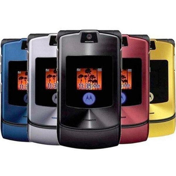 【 100% Chính Hãng】điện Thoại Di Động V3 Băng Tần Lật GSM Bốn Băng Tần Motorola Razr Phiên Bản Thế Giới