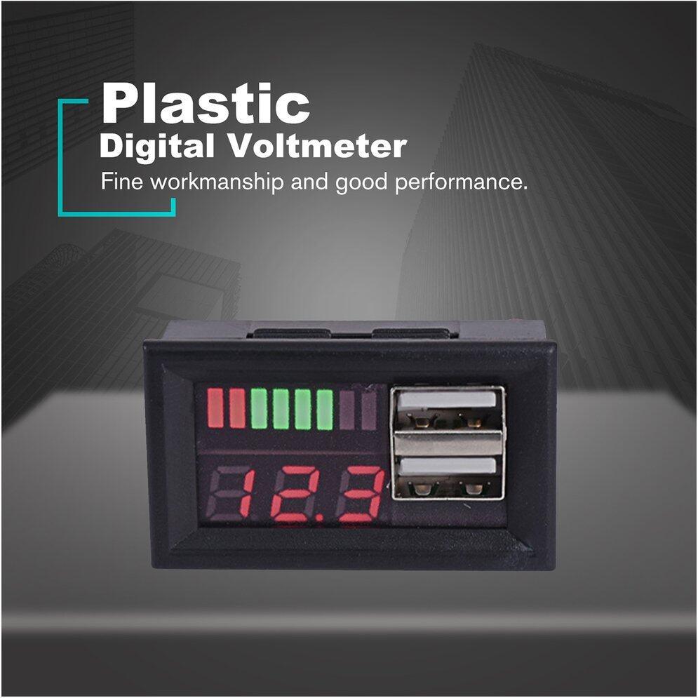 12V Lead Acid Battery BMS Capacity Indicator Tester Voltmeter Dual USB Charger