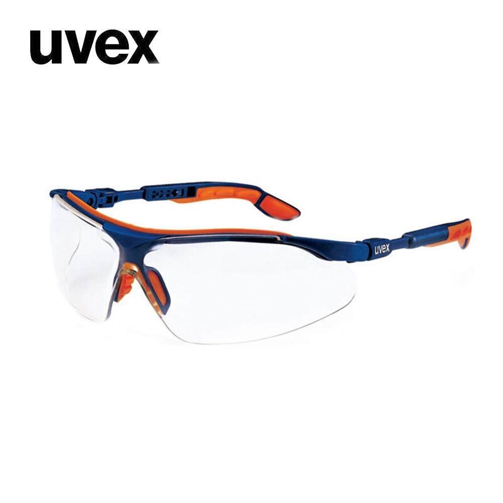 Kính Bảo Hộ Uvex 9160265 Kính Bảo Vệ Mắt Kính Chống Tia UV Có Thể Điều Chỉnh Gương Chân Kính An Toàn Màu Xanh Với Cam, 1