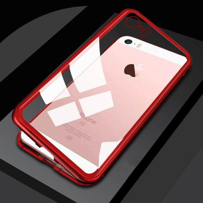 Magnetic Adsorption Metal Bumper Case For Apple iPhone 5 / iPhone 5s / iPhone SE Cases