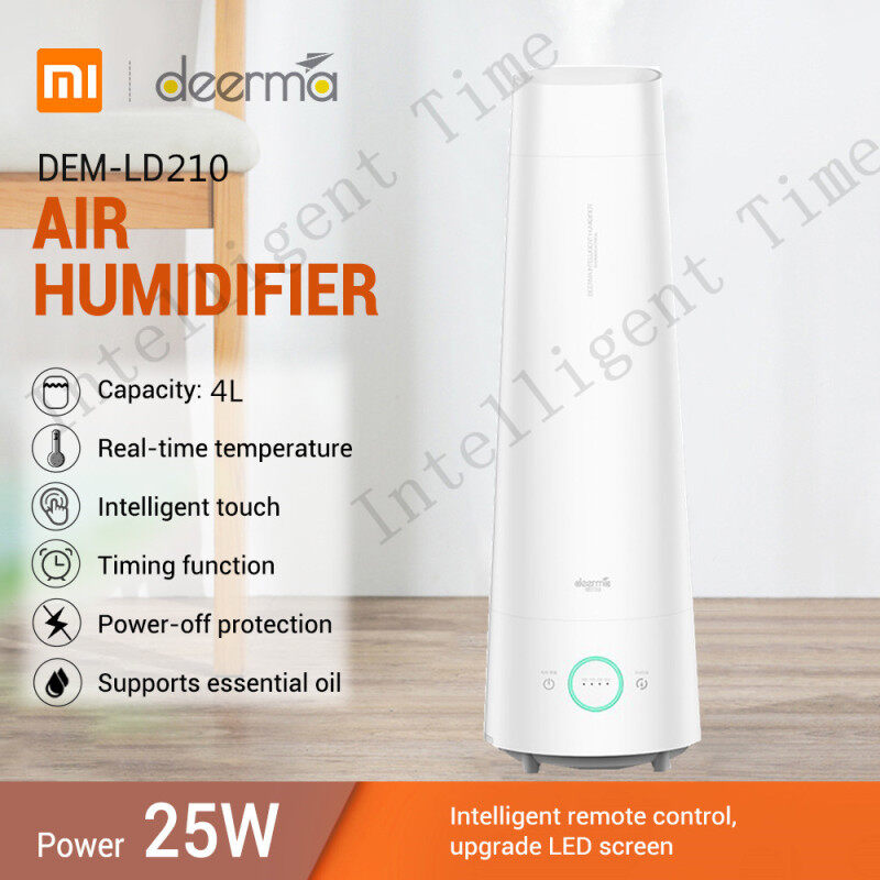 Deerma DEM - LD220 / LD210 / LD200 With Aromatherapy box 4L Large Capacity Cool Mist Mute Air Humidifier air purifier aromatherapy diffuser Household Singapore