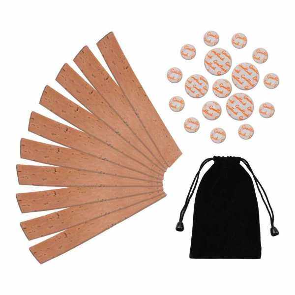 Clarinet Neck Joint Cork and Pad Set 10 Piece of Clarinet Neck Joint Cork 17 Piece Clarinet Pads for Bb Clarinet (Standard) Malaysia
