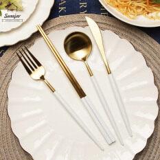 Sweetjar Bộ dao nĩa muỗng bằng thép không gỉ, chất lượng cao – INTL