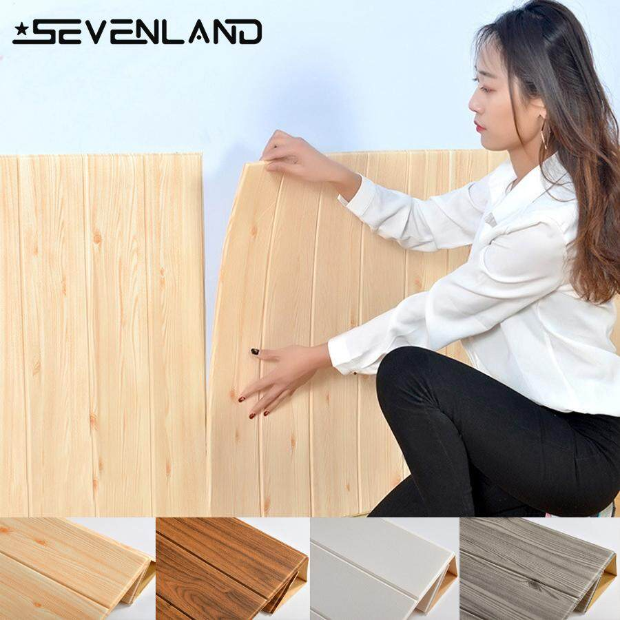 3D Wood Waterproof Wallpaper Wall affixed to the TV background Living Room Wall Decorated Bedroom