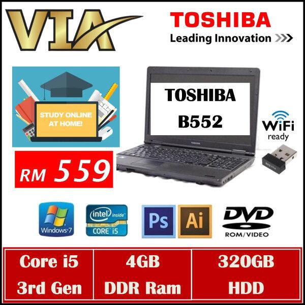 (FREE SHIPPING) TOSHIBA B552/H Core i5~4GB~320GB~Win7 Pro Malaysia