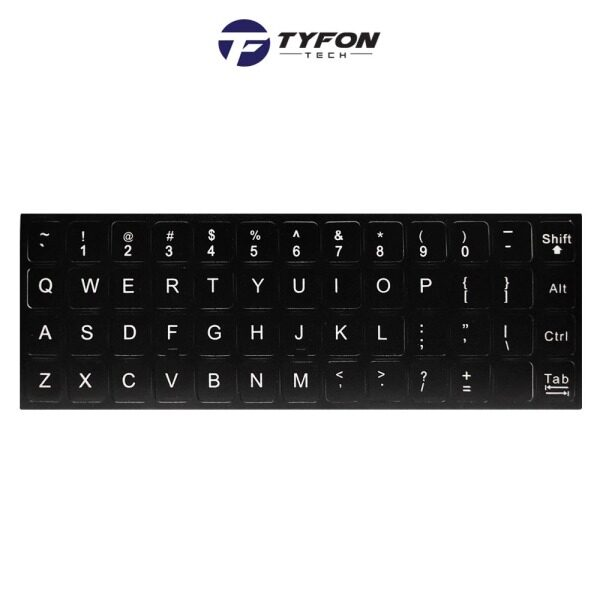 Universal UK English Keyboard Replacement Stickers Compatible For Laptop Notebook PC Computer Malaysia