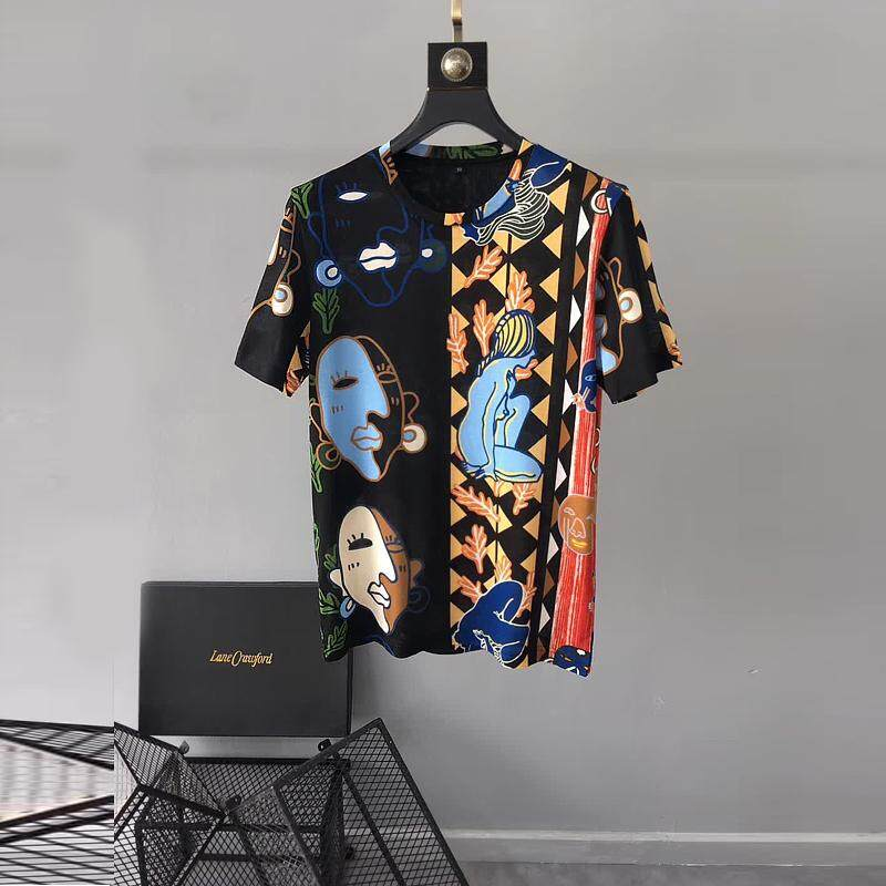 2ad57ba74 Valentino Spring and summer new men's short sleeve T - shirt round neck  slim European and