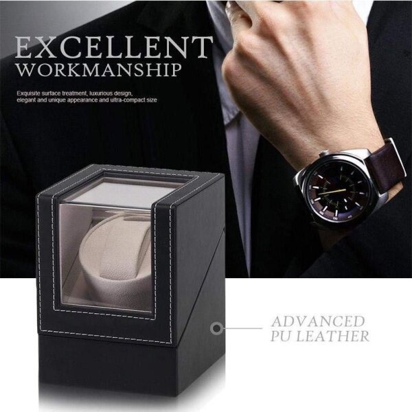 Watch Winder Shaker Rotater Turner with PU Leather Material Malaysia