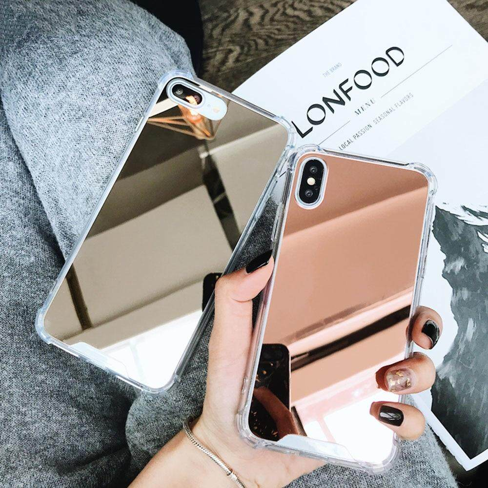 Luxury Plating Shockproof Mirror Iphone 6 6s 7 8 Plus X Xs Xr Max Case By Aimidawooo.