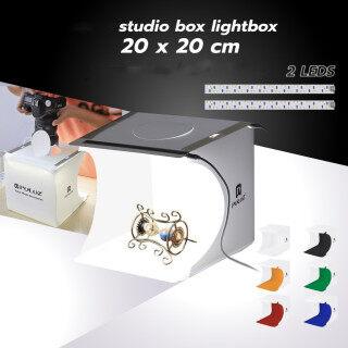 Hộp Đèn 2 Bóng LED, Hộp Chụp Ảnh Mini, Đèn Hộp Chụp Ảnh 1100LM Bộ Hộp Lều Chụp Ảnh Studio & Phông Nền 6 Màu thumbnail