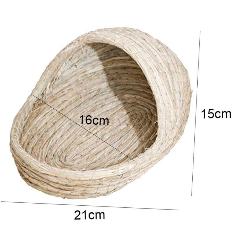 Pet Rabbit hamster cỏ tự nhiên dệt dép hình dạng tổ ấm giường đồ chơi