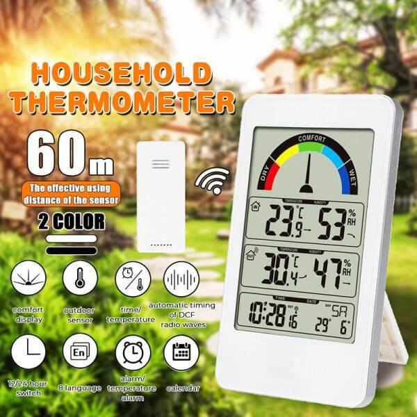 Kỹ Thuật Số không dây Trạm Thời Tiết Full Màn Hình Trong Nhà Ngoài Trời Áp suất khí quyển Độ Ẩm Nhiệt Độ Đồng Hồ Ngoài Trời Cảm Biến