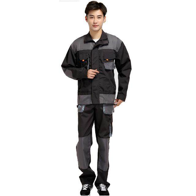 Men Work Clothing Sets Unisex Workwear Suits Long Sleeve Jackets+Pants Working Factory Uniforms Repair Workers Plus Size