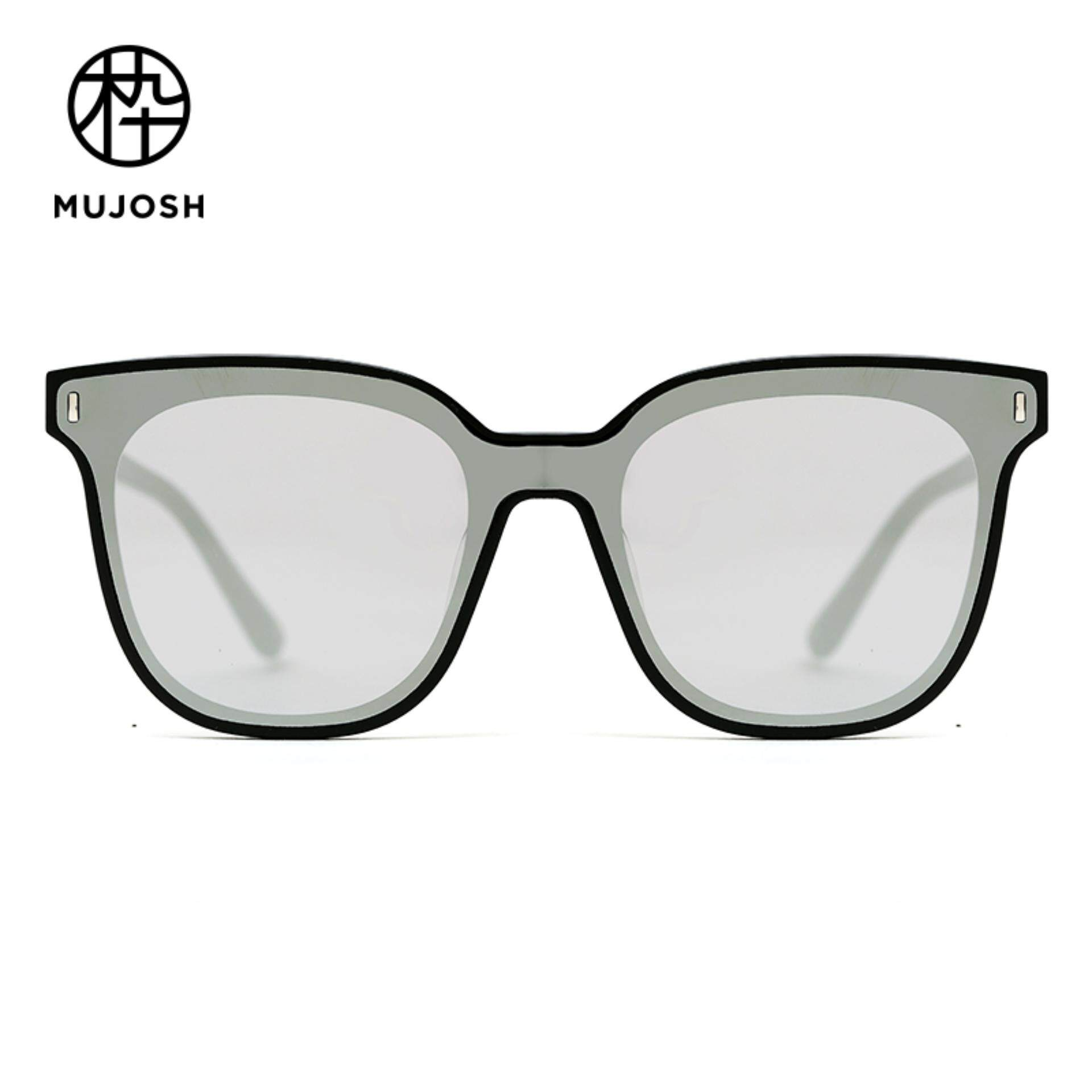 4d760ea46a MUJOSH Men Acetate Nylon TR90 Lens Square Shield Fashion Sunglasses  SM1840133C01